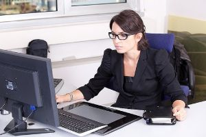 A CPA in her office chamber
