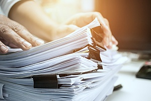a small business filing the paperwork necessary for a PPP loan