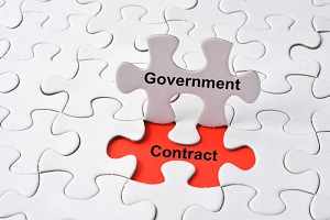 Government Contract Concept On Missing Puzzle