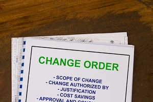 engineering change order documents for a government contract modification
