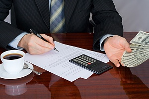 a business owner collecting money through accounts receivable