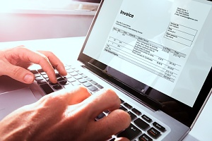 an invoice being paid through accounts payable services