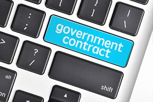 government contract key in keyboard
