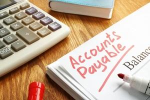 accounts payable handwritten by marker on balance sheet