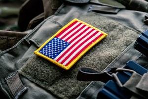 united states flag on the tactical bulletproof vest
