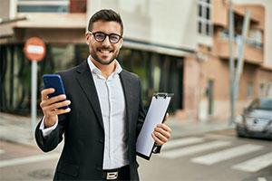 businessman getting GSA schedule contract