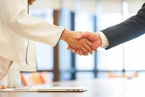 investor businessman handshake with GSA approved vendor